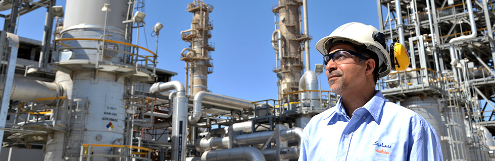 SABIC engineer at a plant